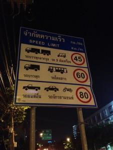 前回の思い出写真。 タイの3輪バイク、トゥクトゥクの記号がかわいいです。が、トゥクトゥクは45km/h、バイクは80km/h。この差は?