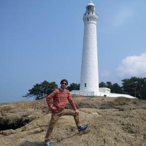 出雲の思い出写真。日御碕灯台にて。